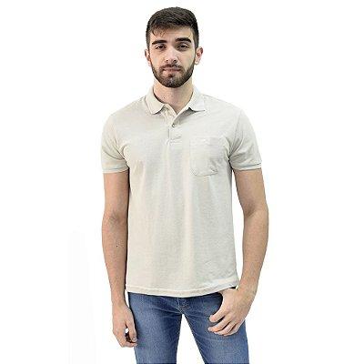 Camisa Polo Masculina - Cinza Claro 666 -  Wayna