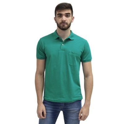 Camisa Polo Masculina - Verde Turquesa - Wayna