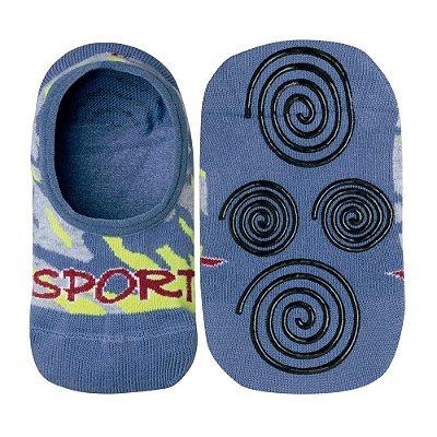 Meia Infantil Antiderrapante Sport  Azul - Lupo