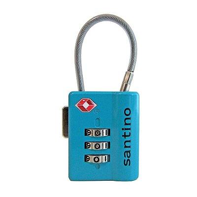 Cadeado com Segredo TSA Lock - Azul Tiffany- Santino