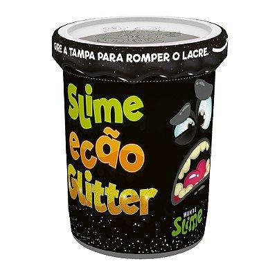 Slime Ecão Glitter - 100g - Preto - DTC
