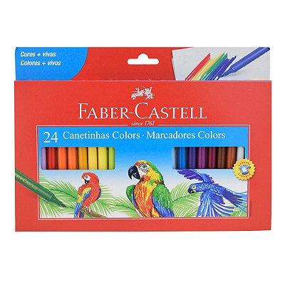 Canetinhas Colors - 24 Cores - Faber Castell