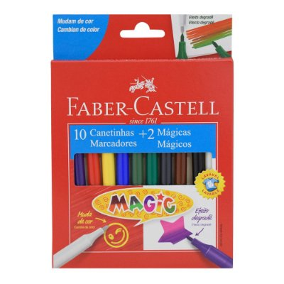 Canetinhas Magic - 12 Cores - Faber Castell
