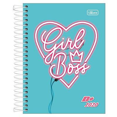 Agenda Diária D+ 2020 - Coração Girl Boss - Tilibra