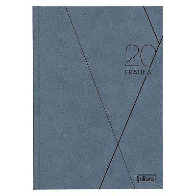 Agenda Diária Prátika Costurada 2020 - Azul Acinzentado - Tilibra