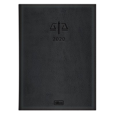 Agenda Diária Executiva Advocacia 2020 - Preta - Tilibra