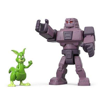 Teen Titans Go - Cinderblock e Mutano Canguru - Imaginext