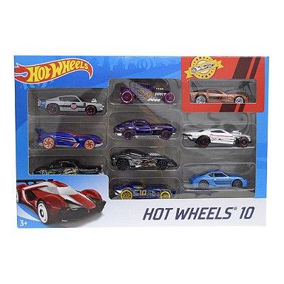 Hot Wheels Pacote 10 Carros - Mattel