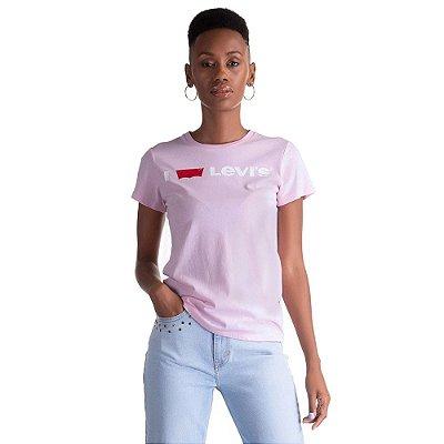 Camiseta Levis I Love - Rosa