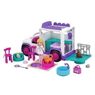 Polly Pocket - Hospital Móvel dos Bichinhos - Mattel