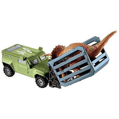 Jurassic World - Transporte Dino - Transportador Tricera - Mattel