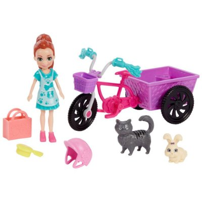 Polly Pocket - Bicicleta Aventura com Bichinho - Lila - Mattel