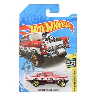 Carrinhos Hot Wheels - 55 Chevy Bel Air Gasser - Mattel
