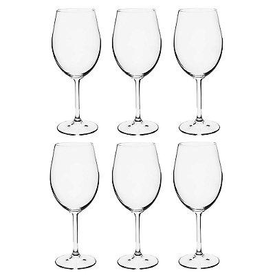 Jogo de Taças para Vinho Tinto - 6 Peças - Crystalite Bohemia