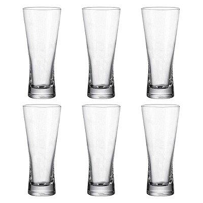 Jogo de Copos para Cerveja - Tulipas - 6 Peças - Crystalite Bohemia