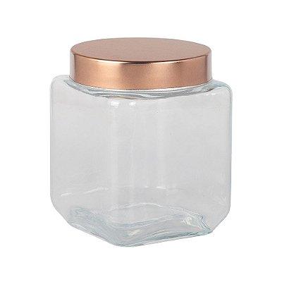 Pote de Vidro com Tampa Rosqueável - Cobre - 1,2L - Full Fit