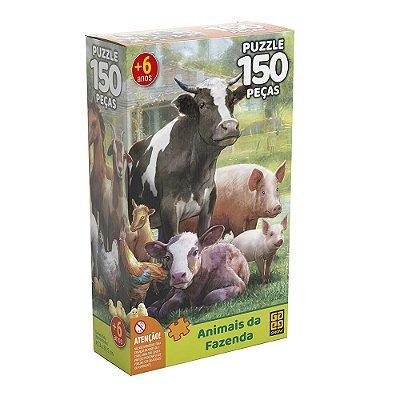 Quebra Cabeça - Animais da Fazenda - 150 Peças - Grow
