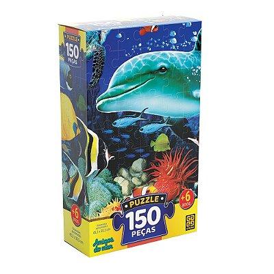 Quebra Cabeça - Amigos do Mar - 150 Peças - Grow