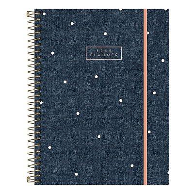 Agenda Planner Cambridge Permanence Jeans com Bolinhas - Tilibra