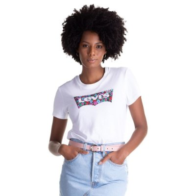 Camiseta Feminina Originals Logo Floral - Colors - Levi's