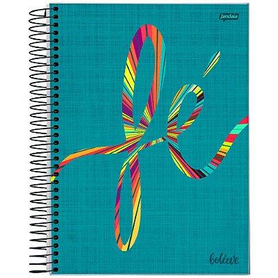 Caderno Believe - Fé - 1 Matéria - Jandaia
