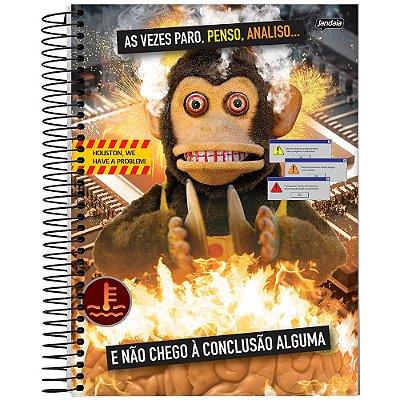 Caderno Insano - 1 Matéria - Macaco de Brinquedo - Jandaia