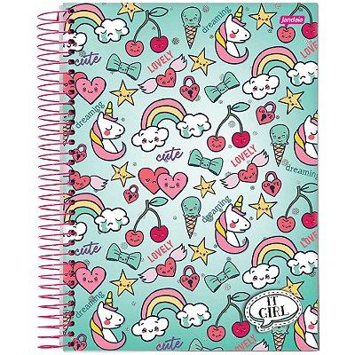 Caderno It Girl - 12 Matéria - Arco-Íris - Jandaia