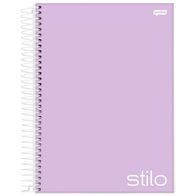 Caderno Stilo - 1 matéria - Lilás - Jandaia