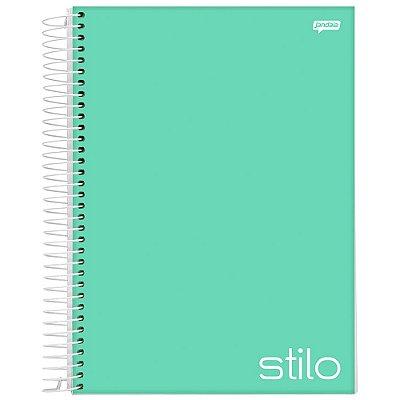 Caderno Stilo - 10 matérias - Verde Água - Jandaia
