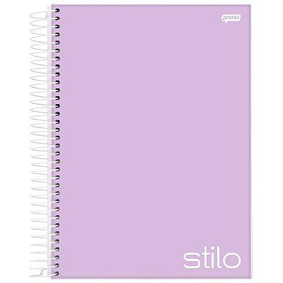 Caderno Stilo - 10 matérias - Lilás - Jandaia