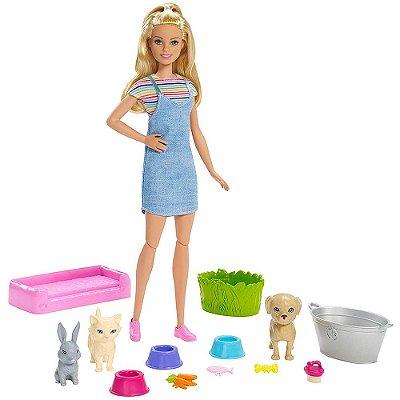 Boneca Barbie Banho Pet - Play 'N' Wash Pets - Mattel