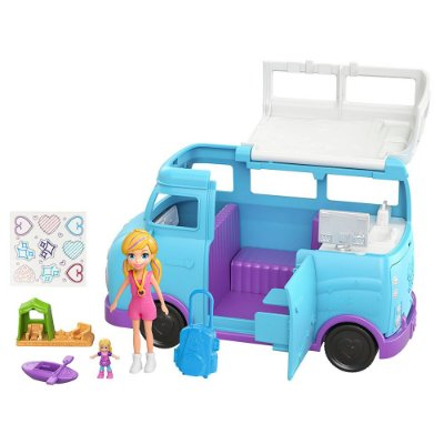 Polly Pocket - Glamorosa Van de Camping- Mattel