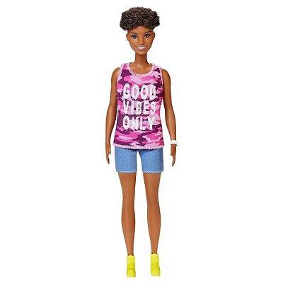Barbie Fashionista Curvy - Negra 128 - Mattel