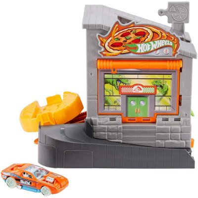 Conjunto Hot Wheels City - Ataque do Dino na Pizzaria - Mattel