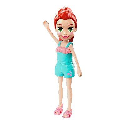 Polly Pocket Adolescente - Lila / Jardineira Verde Água - Mattel