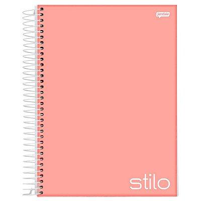 Caderno Stilo - 10 matérias - Coral - Jandaia