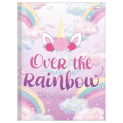 Caderno Brochura Blink - Over The Rainbow - 80 Folhas - Tilibra