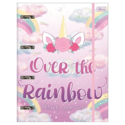 Caderno Argolado Blink - Unicórnio - Over The Rainbow - 80 Folhas - Tilibra