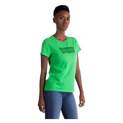 Camiseta Feminina Originals Logo - Verde - Levi's