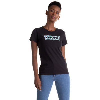 Camiseta Feminina Originals Logo Floral - Preto - Levi's