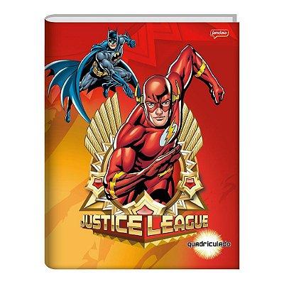 Caderno de Brochura Quadriculado - Liga da Justiça - 40 folhas - Jandaia
