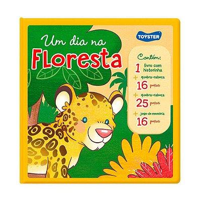 Livro Um Dia na Floresta - Quebra-Cabeça e Jogo da Memória - Toyster
