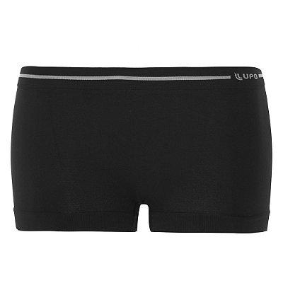 Calcinha Boxer Sem Costura Loba Clássica - Preto - Lupo