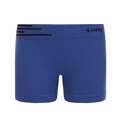 Cueca Infantil Boxer Microfibra sem Costura - Azul Escuro - Lupo Kids