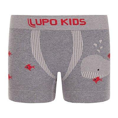 Cueca Boxer sem Costura - Peixinhos - Lupo Kids