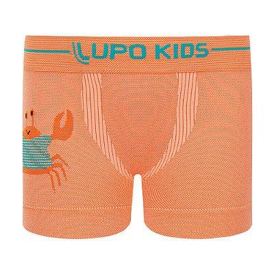 Cueca Boxer sem Costura - Caranguejo Laranja - Lupo Kids