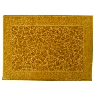 Toalha para Piso Felpudo Jacquard Confort Mosaico - Amarelo Mostarda 11434 - Döhler