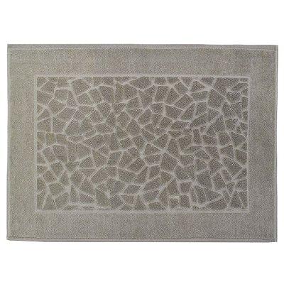 Toalha para Piso Felpudo Jacquard Confort Mosaico - Cinza 11433 - Döhler