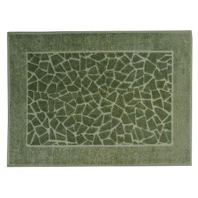 Toalha para Piso Felpudo Jacquard Confort Mosaico - Verde Militar 11436 - Döhler