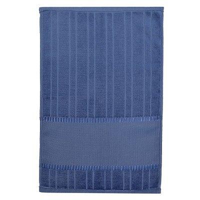 Toalha de Lavabo Velour Para Bordar Bella - Azul 10470 - Döhler